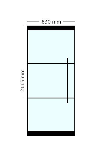 Stalen Taatsdeur 83x2115