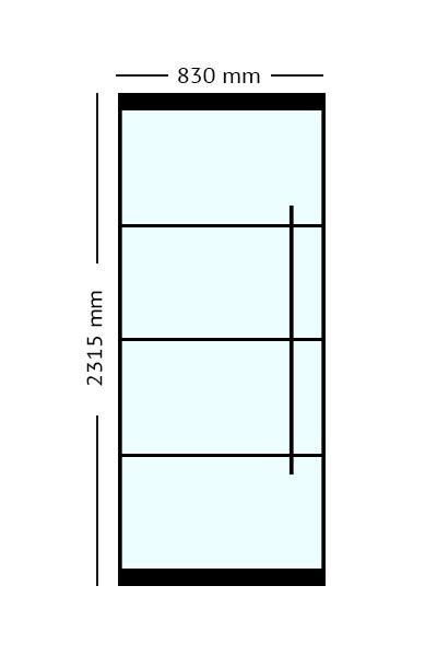 Stalen Taatsdeur 83x2315