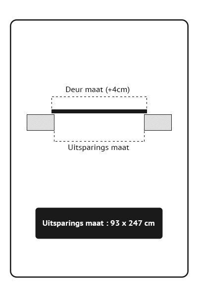 Stalen binnendeuren Schuifdeur 93x247