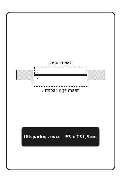 Stalen binnendeuren taatsdeur 93x231,5