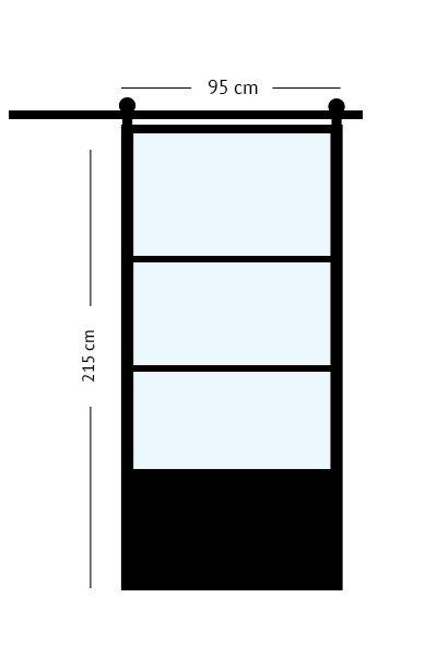 stalen schuifdeur 95x211,5 cm