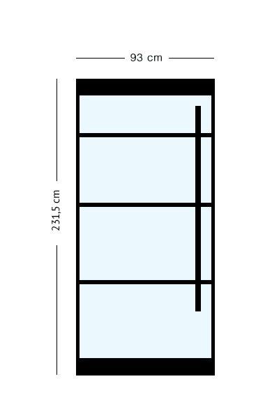 stalen taatsdeuren 231,5 x 93 cm