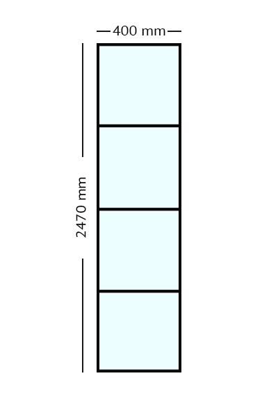 Stalen Paneel 247x40