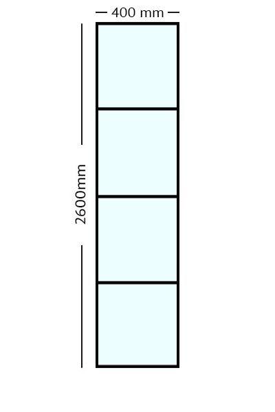 Stalen Paneel 260x40