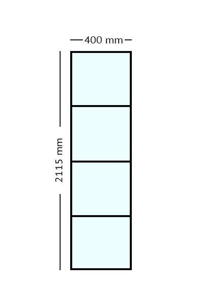 Stalen Paneel 40x2115