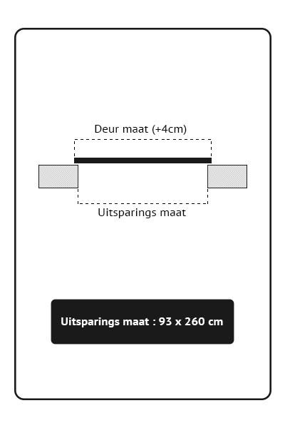 Stalen binnendeuren Schuifdeur93x260