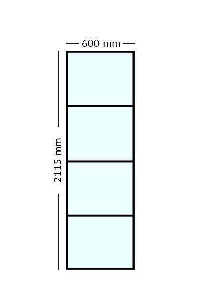 Stalen paneel 60x2115
