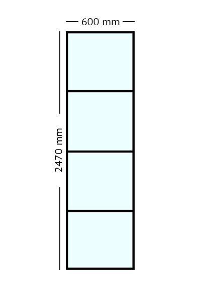 Stalen paneel 60x247