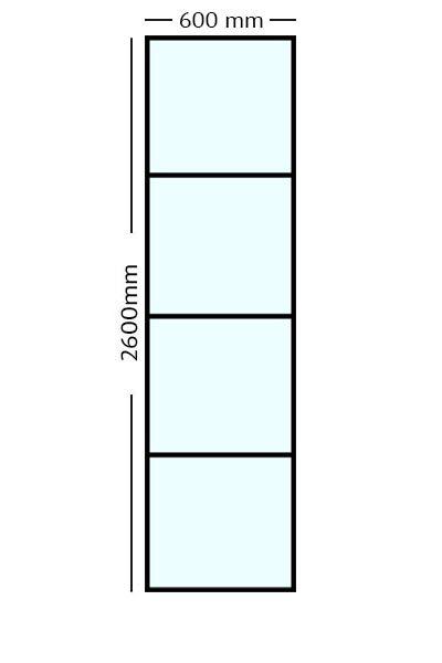 Stalen paneel 60x260