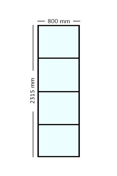 Stalen paneel 80 x 231,5