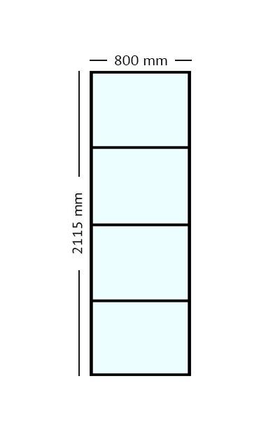 Stalen paneel 80 x211,5