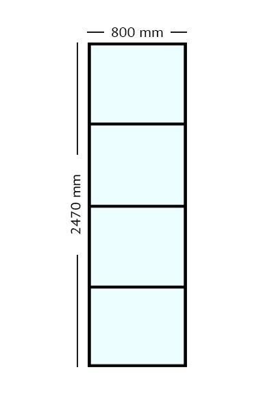Stalen paneel 80x247