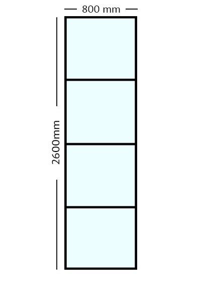 Stalen paneel 80x260